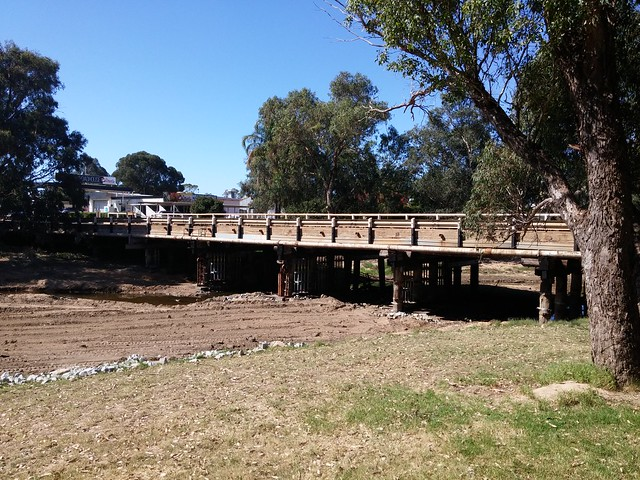 Williams bridge of the Albany Highway, with temporary reinforcing