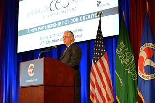 Secretary Tillerson Delivers Remarks at the U.S. Chamber of Commerce's U.S.-Saudi CEO Summit in Washington