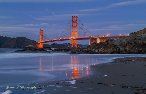 sanfrancisco california unitedstates long exposure ocean golden gate bridge