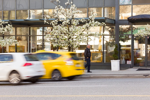 Yellow Taxi Streetscape