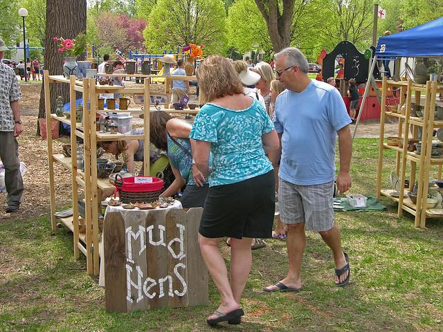 2013 Linden Hills Festival Mud Hens booth