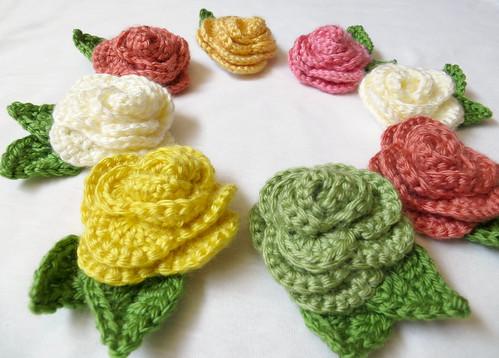 Crochet Rose Circle Angled