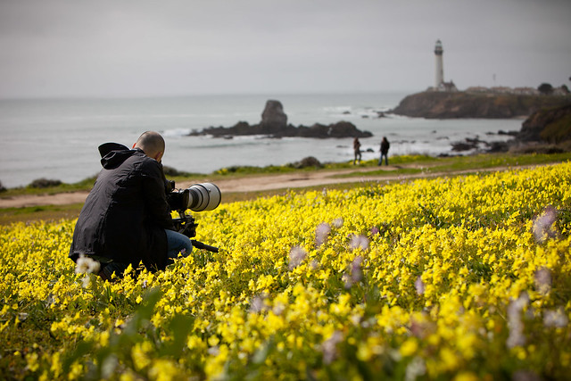 Manfrotto Be Free Tripod ad shoot BTS - California Coast