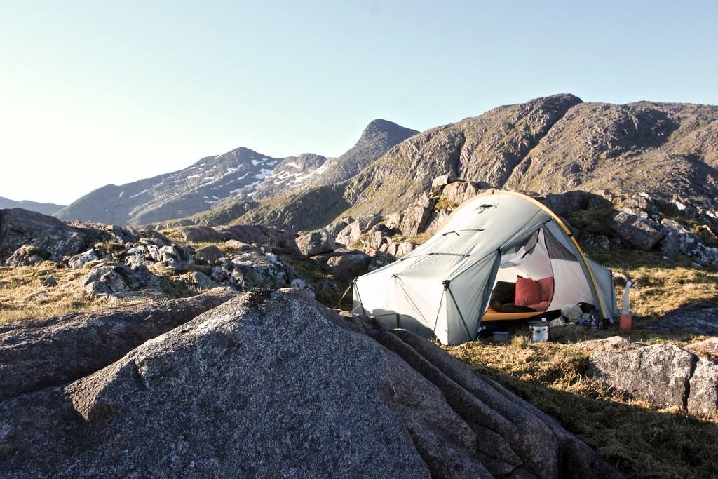 Tent with Ben Cruachan