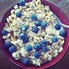 Sorry I have been gone so long! Dinner was some nice cold cereal. Perfect for a hot day! #summer #dinner #cereal #blueberries