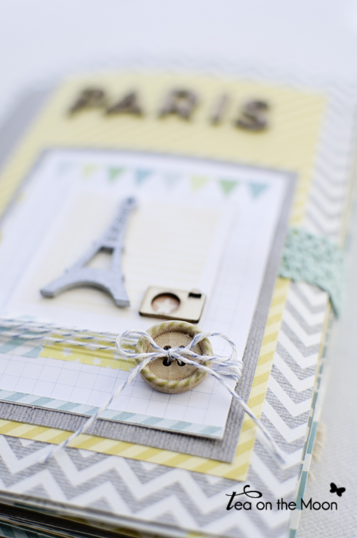 mini album scrapbook Paris