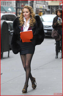 Becki Newton Patterned Tights Celebrity Style Women's Fashion
