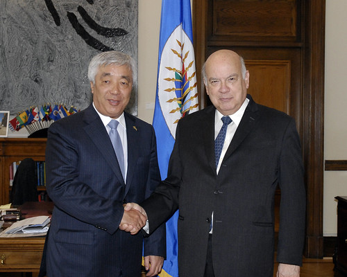 OAS Secretary General Receives Foreign Minister of Kazakhstan