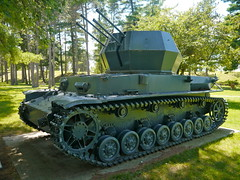 "German WW II Flakpanzer IV ""Wirbelwind"" Self Propelled Anti-Aircraft Gun"