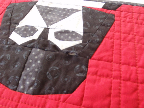 QUILTED PLACEMAT - Darth Vader (hole)