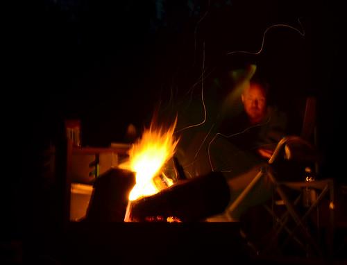 Blurry campfire