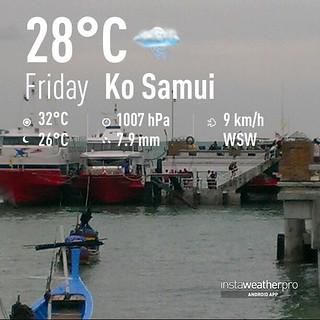 今日のサムイ島 8月2日 離島行き船