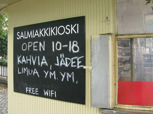In Helsinki: Salmiakkikioski
