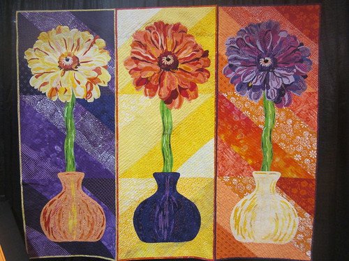 """Zinnias Three"" by Jean Smith of Naples, FL"