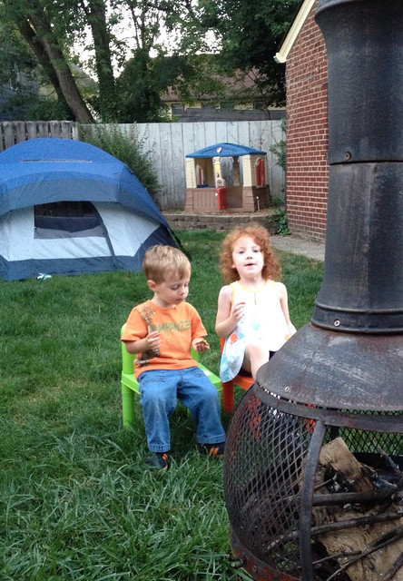 Fancy Nancy Inspired Backyard Campout