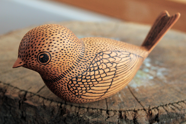 Whittled Bird