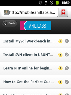 Mobile web app using with your rss feed and php by Anil Kumar Panigrahi