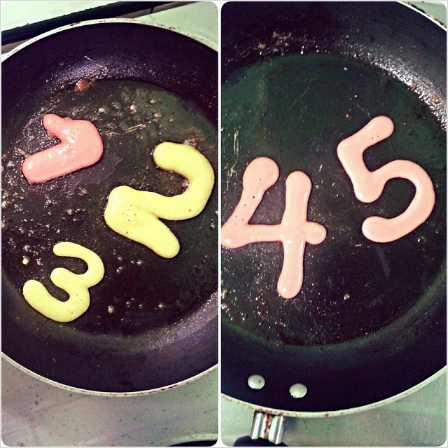 letters and numbers pancakes