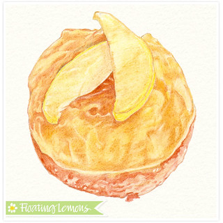 Coloured Pencil: Pear Tart