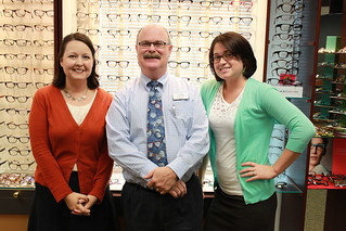 Opticians, Heather Stroud, Lenny Eastin & Ciera Miller