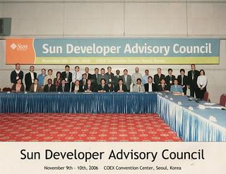 Sun Developer Advisory Council - COEX Seoul Korea, November 9 - 10, 2006