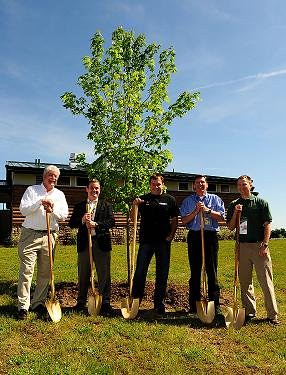 tree planting, green innitiative, NASCAR