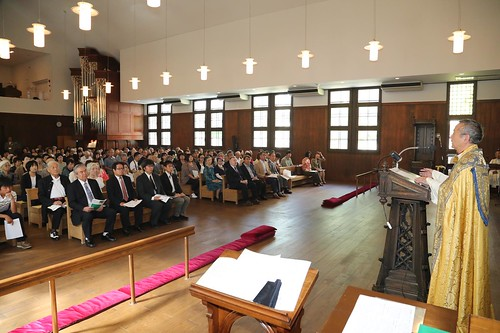 Bishop Andrew Yatuka Nakamura preaches at the dedication service