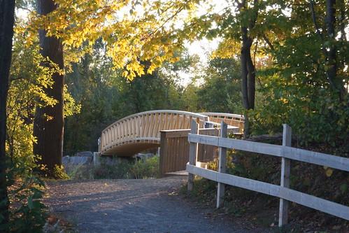 bridge autumn sunset footbridge naturallight minersmarsh sonyslta65