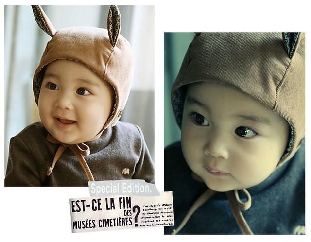 宝宝下午茶>韩国童装 配件_可爱小兔宝帽子_婴儿帽 儿童帽