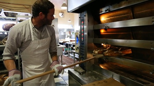 Chad Robertson baking at Tartine Bakery
