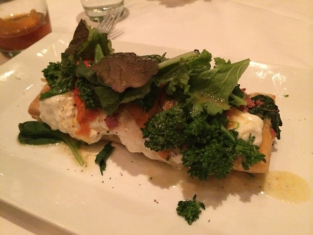 Roasted pepper and burrata tart - Park Tavern