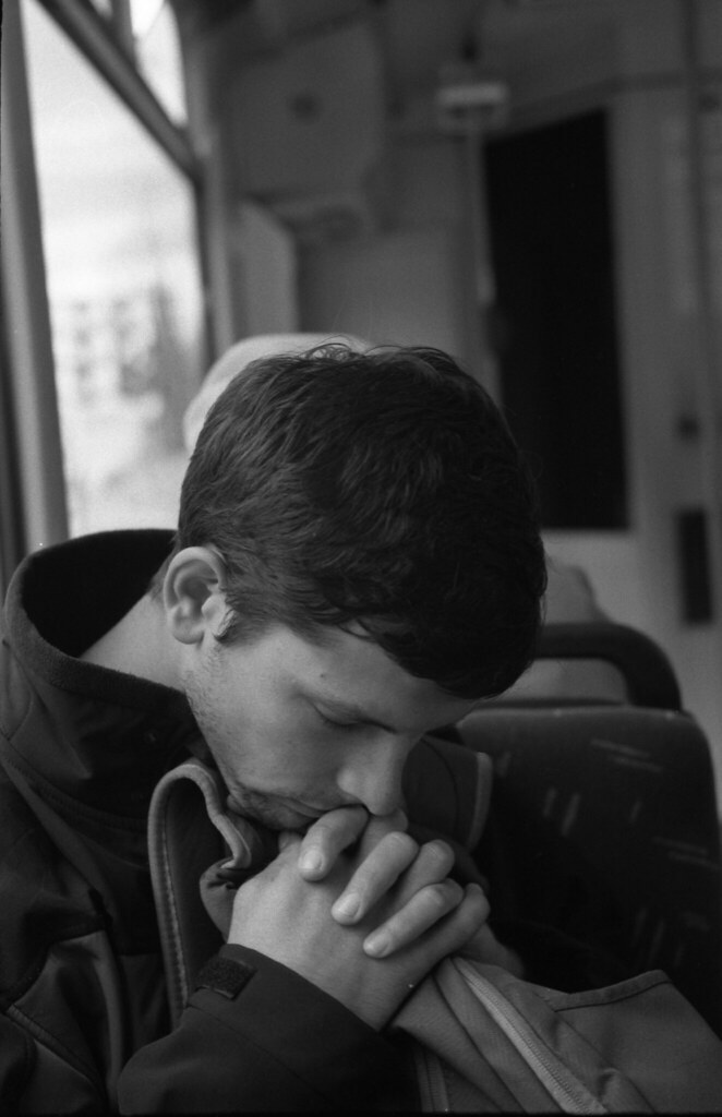 Kiev 4 - New Scan - Tired Young Man in the Tram 1