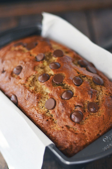 peanut butter chocolate chip banana bread | Fork Vs Spoon
