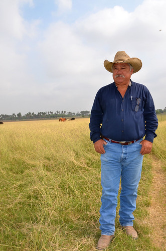 Jose Ramirez III of Penitas, Texas, ranches alongside his father, Jose Ramirez Jr., on land that has been in the family for generations. Photo courtesy of NRCS.