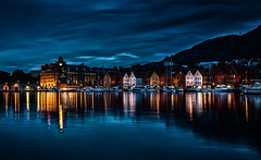 Spooky Bergen at Night - Norway