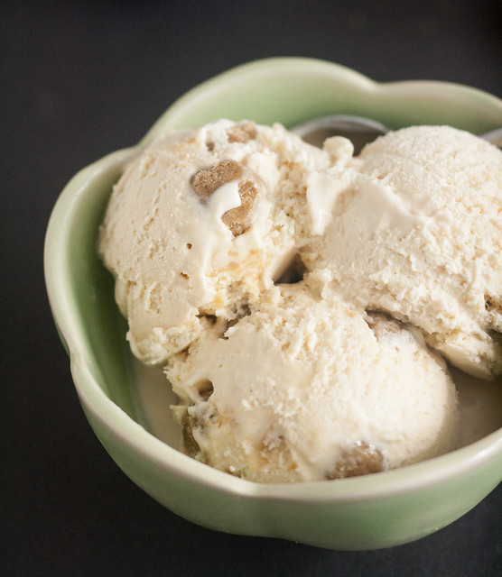 Maple Gingerbread Cookie Dough Ice Cream