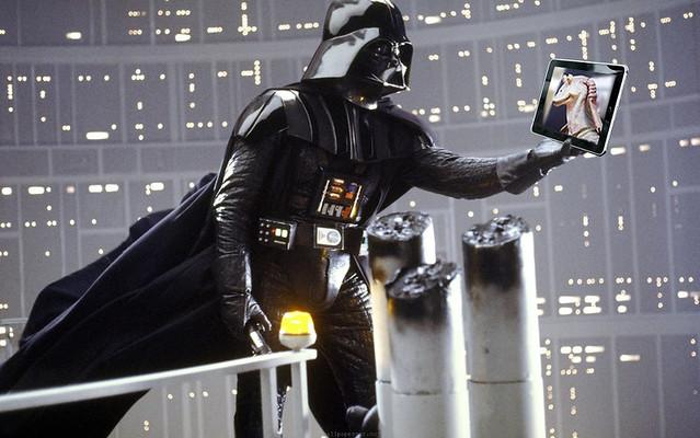 Vader/JarJar selfie