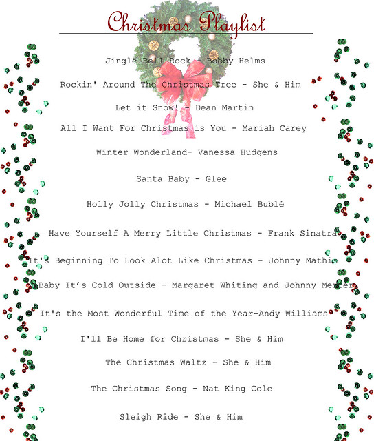 Raspberry Bloom: Christmas Playlist 2013