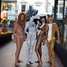 Bodypainting Lion, Zebra, Cheetah, Tiger by humanstatuebodyart