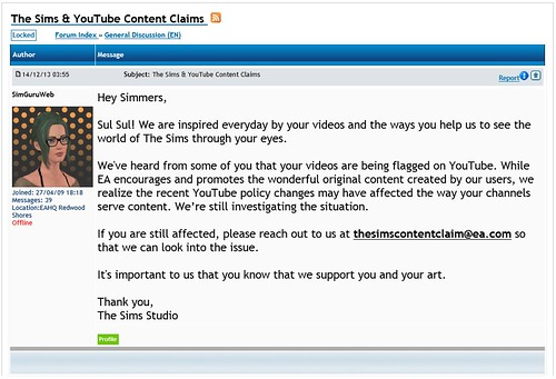 YouTube and EAs Stance