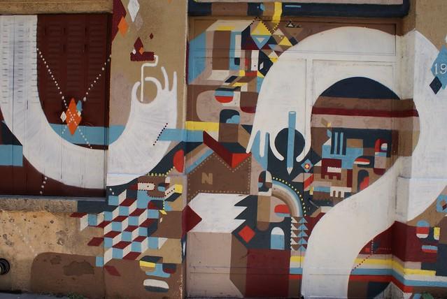 Street art sur les pentes de la Croix Rousse à Lyon