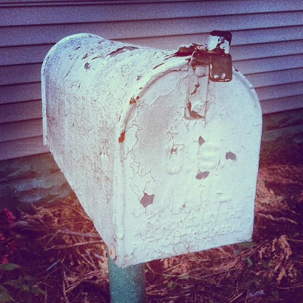 Could have been another post for #white. My parent's mailbox. Our mailbox is sadly one of those new, beige, Rubbermaid-looking, ugly things. Love this one though.