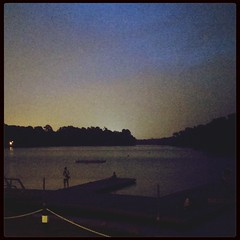 The reservoir at dusk on Sunday. So, so, so happy. 100happydays Day4 at MacRitchie Reservoir