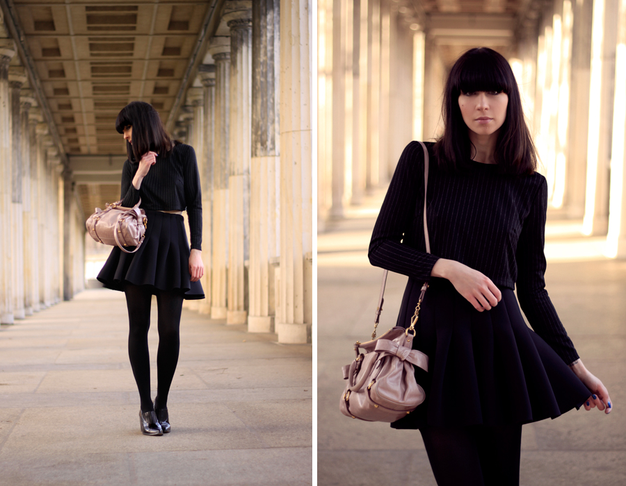 OUtfit H&M Miu Miu Topshop all black Michalsky StyleNite look CATS & DOGS fashion blog from berlin 7