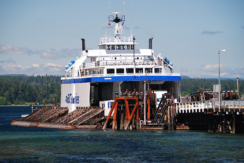 Quathiaski Cove Ferry Terminal, Quadra Island, Discovery Islands, British Columbia, Canada