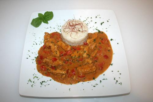 42 - African Chicken - Serviert / Serves