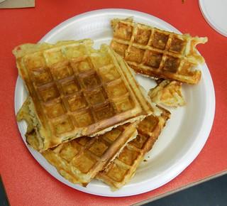 Potato Herb Waffles