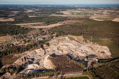 sverige swe lidköping västragötaland flygfoto råda grustag
