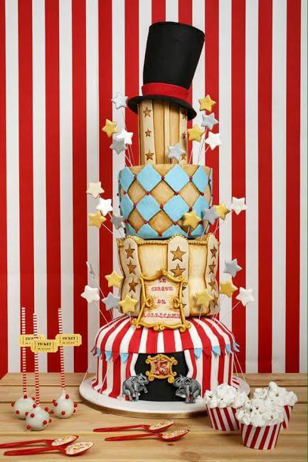 Circus Themed Cake by Lena Constantinou of Lollicake Cyprus
