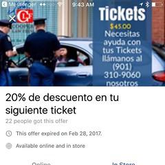 Necesitas ayuda con tus Tickets llámanos al (901) 310-9060 nosotros vamos por ti www.CLFsite.com
